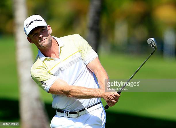 James Driscoll plays his third shot on the second hole during round one of the Puerto Rico Open presented by Banco Popular at Trump International...