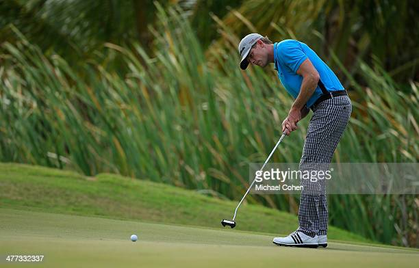 James Driscoll strokes a putt for birdie on the 16th green during the third round of the Puerto Rico Open presented by seepuertoricocom held at Trump...
