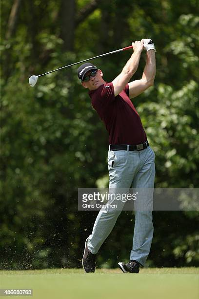 James Driscoll tees off on the 5th during Round Two of the Zurich Classic of New Orleans at TPC Louisiana on April 25 2014 in Avondale Louisiana