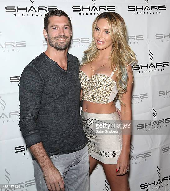 James Driskell poses with his fiancee Singer Chloe Lattanzi and her mother singer/actress Olivia NewtonJohn as they celebrate the 35th anniversary of...