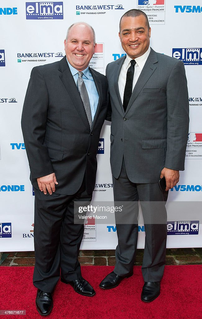 James DuMont (L) and Steven Adams attend The Consul General Of France, Mr. Axel Cruau, Honors The French Nominees For The 86th Annual Academy Awards party on March 3, 2014 in Beverly Hills, California.