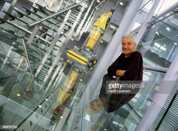 James Dyson poses for a portrait at the Dyson vacuum cleaner factory in Malmesbury Wiltshire England on September 16 2002
