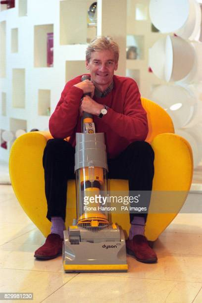 James Dysonwith his revolutionary design of vacuum cleaner following the news that he is to receive a CBE for services to industrial design in the...