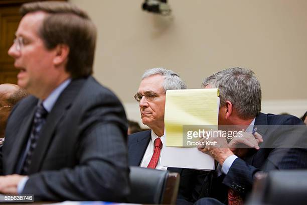 James E Lentz president and chief operating officer Toyota Motor Sales USA Inc testifies on Capitol Hill in Washington before the House Oversight and...