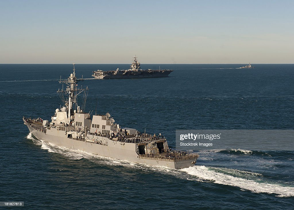 USS James E. Williams is underway with USS Enterprise and USS Nitze.