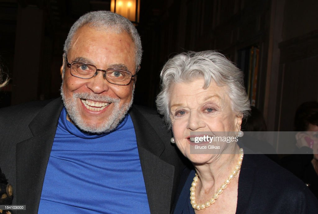 <a gi-track='captionPersonalityLinkClicked' href=/galleries/search?phrase=James+Earl+Jones&family=editorial&specificpeople=206328 ng-click='$event.stopPropagation()'>James Earl Jones</a> and <a gi-track='captionPersonalityLinkClicked' href=/galleries/search?phrase=Angela+Lansbury&family=editorial&specificpeople=204636 ng-click='$event.stopPropagation()'>Angela Lansbury</a> attend the 'Who's Afraid Of Virginia Woolf?' Broadway Opening Night at The Booth Theatre on October 13, 2012 in New York City.