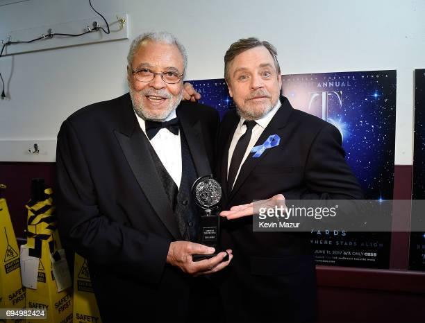 James Earl Jones and Mark Hamill attend the 2017 Tony Awards at Radio City Music Hall on June 11 2017 in New York City