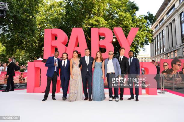 CJ James Edgar Wright Eiza Gonzalez JOn Hamm Lily James Kevin Spacey Ansel Elgort and Jamie Foxx attending the Baby Driver premiere held at Cineworld...