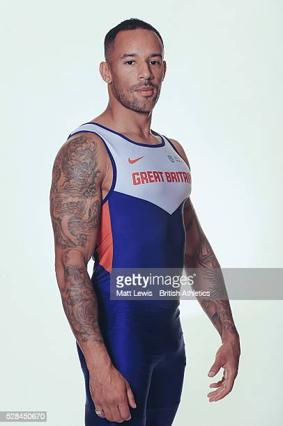 James Ellington of British Athletics poses for a portrait during a Training Session on August 17 2015 in Fukuoka Japan