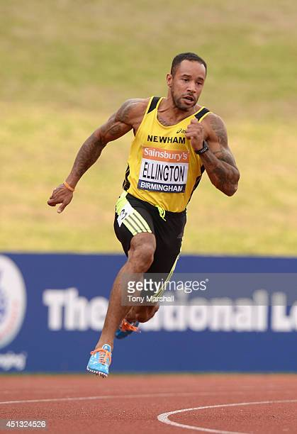 James Ellington of Newham and Essex Beagles competing in the Men's 200m heats during the Sainsbury's British Championships Birmingham Day One at...