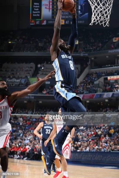 James Ennis III of the Memphis Grizzlies dunks against the Houston Rockets on October 28 2017 at FedExForum in Memphis Tennessee NOTE TO USER User...