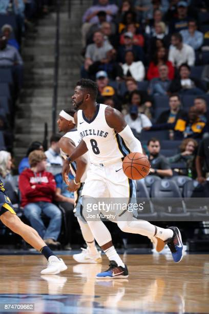 James Ennis III of the Memphis Grizzlies handles the ball against the Indiana Pacers on November 15 2017 at FedExForum in Memphis Tennessee NOTE TO...