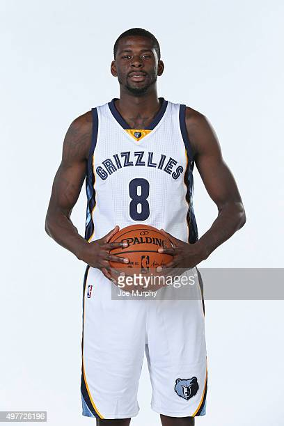 James Ennis of the Memphis Grizzlies poses for a portrait on November 18 2015 at FedExForum in Memphis Tennessee NOTE TO USER User expressly...