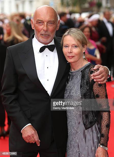 James Faulkner and wife attends as BAFTA celebrate 'Downton Abbey' at Richmond Theatre on August 11 2015 in Richmond England
