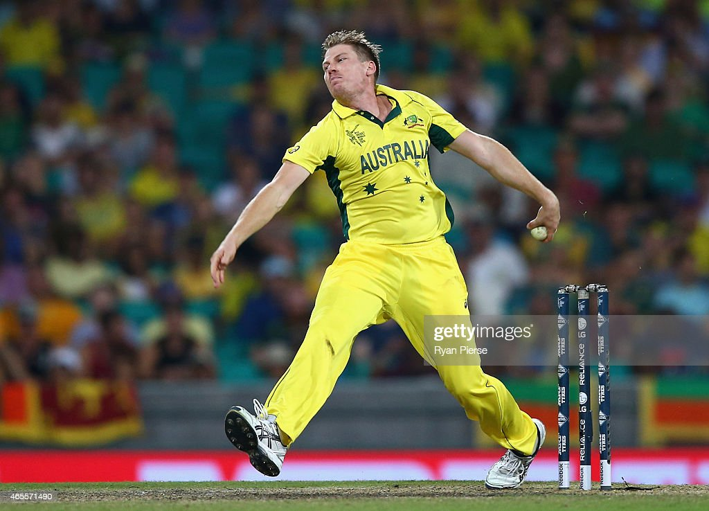 <a gi-track='captionPersonalityLinkClicked' href=/galleries/search?phrase=James+Faulkner+-+Cricketer&family=editorial&specificpeople=11388189 ng-click='$event.stopPropagation()'>James Faulkner</a> of Australia bowls a slower ball during the 2015 ICC Cricket World Cup match between Australia and Sri Lanka at Sydney Cricket Ground on March 8, 2015 in Sydney, Australia.