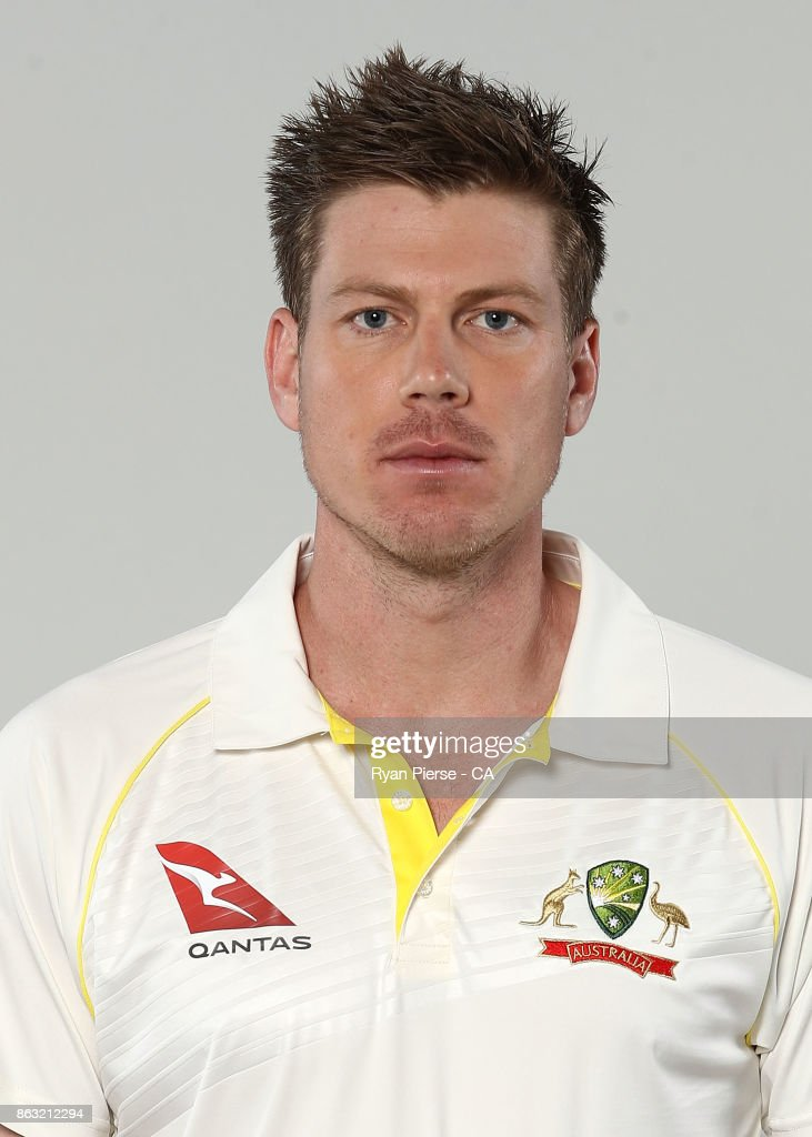 James Faulkner of Australia poses during the Australia Test Team Headshots Session at Intercontinental Double Bay on October 15, 2017 in Sydney, Australia.