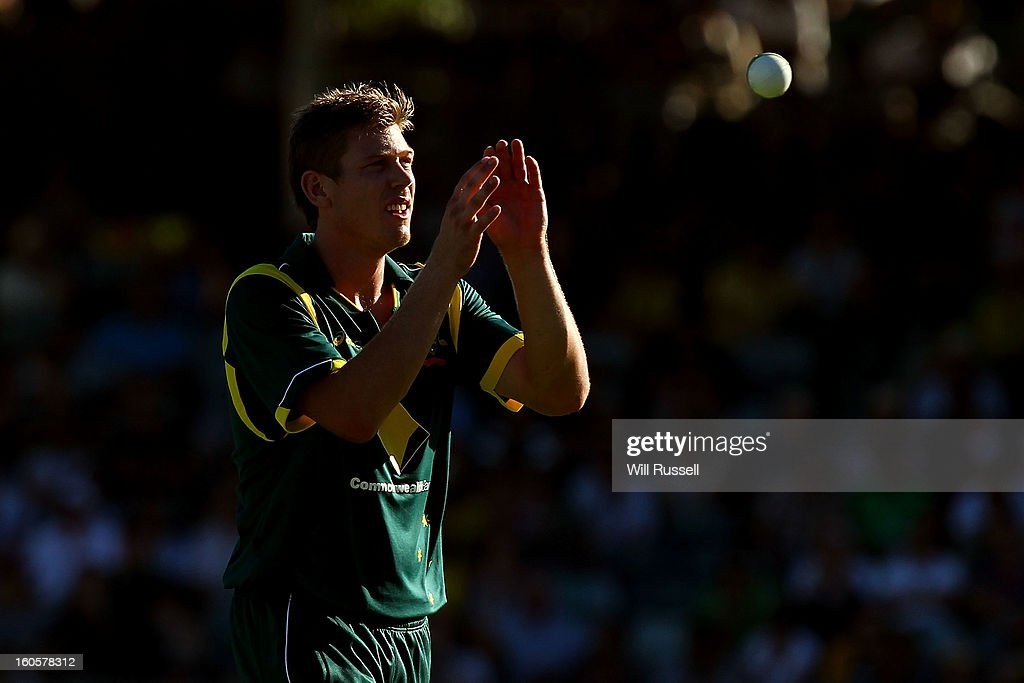 James Faulkner of Australia prepares to bowl during game two of the Commonwealth Bank One Day International Series between Australia and the West Indies at WACA on February 3, 2013 in Perth, Australia.