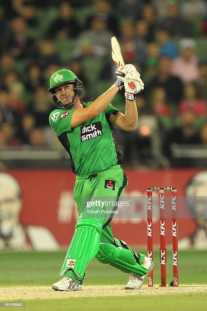<a gi-track='captionPersonalityLinkClicked' href=/galleries/search?phrase=James+Faulkner+-+Cricketer&family=editorial&specificpeople=11388189 ng-click='$event.stopPropagation()'>James Faulkner</a> of the Stars plays a shot during the Big Bash League match between the Melbourne Stars and the Sydney Sixers at Melbourne Cricket Ground on January 5, 2015 in Melbourne, Australia.