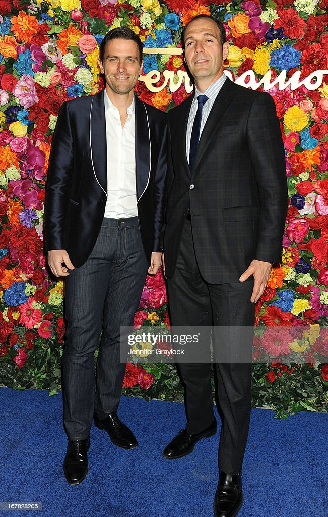 <a gi-track='captionPersonalityLinkClicked' href=/galleries/search?phrase=James+Ferragamo&family=editorial&specificpeople=3951748 ng-click='$event.stopPropagation()'>James Ferragamo</a> and Vince Ferragamo attend the Ferragamo Celebrates The Launch Of L'Icona Highlighting The 35th Anniversary Of Vara at The McKittrick Hotel, Home of Sleep No More on April 30, 2013 in New York City.