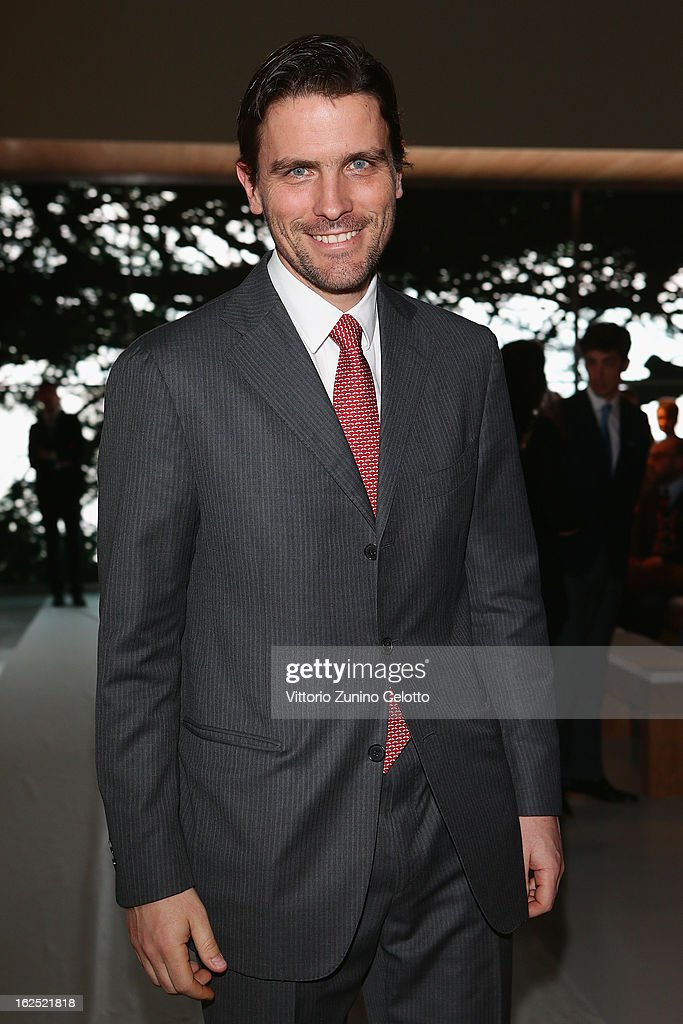<a gi-track='captionPersonalityLinkClicked' href=/galleries/search?phrase=James+Ferragamo&family=editorial&specificpeople=3951748 ng-click='$event.stopPropagation()'>James Ferragamo</a> attends the Salvatore Ferragamo fashion show during Milan Fashion Week Womenswear Fall/Winter 2013/14 on February 24, 2013 in Milan, Italy.