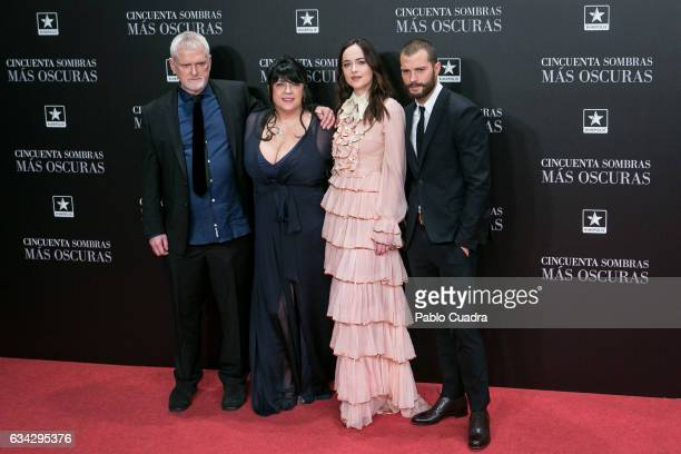 James Foley EL James Dakota Johnson and Jamie Dornan attend the 'Fifty Shades Darker' premiere at Kinepolis Cinema on February 8 2017 in Madrid Spain