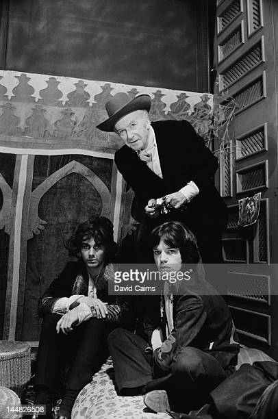 James Fox Mick Jagger and photographer Cecil Beaton on the set of the crime drama 'Performance' London 2nd November 1968 Jagger and Fox costar as...