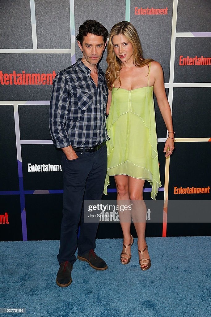 James Frain and Mira Sorvino arrive to Entertainment Weekly's Annual Comic Con Celebration during Comic-Con International 2014 at Float at Hard Rock Hotel San Diego on July 26, 2014 in San Diego, California.