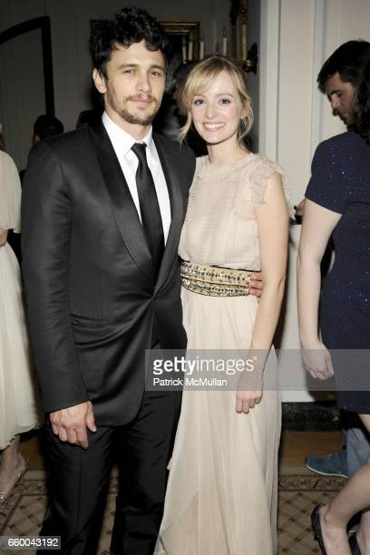 James Franco and Ahna O'Reilly attend BLOOMBERG VANITY FAIR Cocktail Reception After the White House Correspondents' Dinner at The Residence of the...