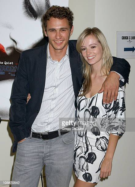 James Franco and Ahna O'Reilly during 'The Quiet' Screening at Sony Studios in Culver City California United States