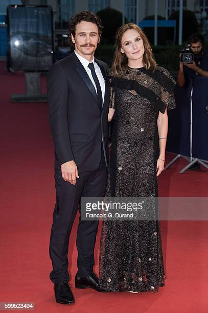 James Franco and Ana Girardot attend the 'In Dubious Battle' Premiere during the 42nd Deauville American Film Festival on September 5 2016 in...