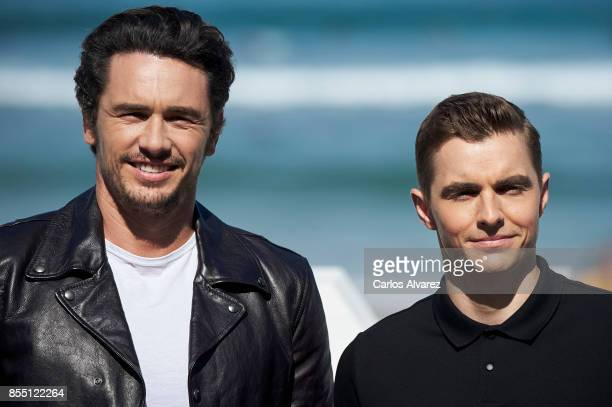 James Franco and Dave Franco attend 'The Disaster Artist' photocall during the 65th San Sebastian International Film Festival on September 28 2017 in...