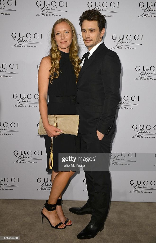 James Franco and guest attend 'Gucci Made to Measure Launch' on June 24, 2013 in Milan, Italy.