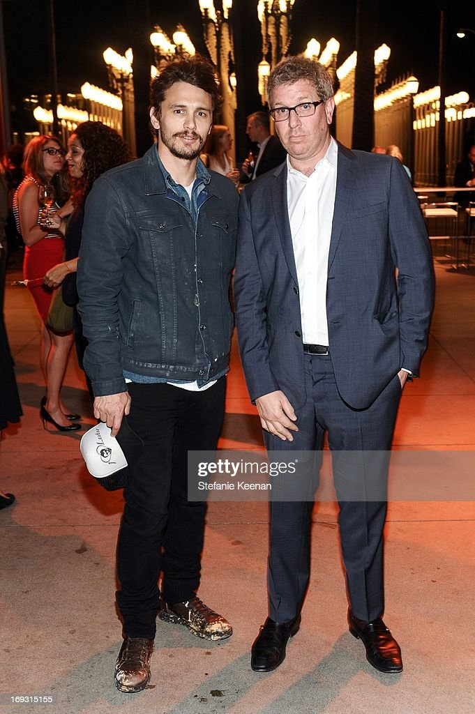 <a gi-track='captionPersonalityLinkClicked' href=/galleries/search?phrase=James+Franco&family=editorial&specificpeople=577480 ng-click='$event.stopPropagation()'>James Franco</a> and Marc Glimcher attend LACMA Celebrates Opening Of James Turrell: A Retrospective at LACMA on May 22, 2013 in Los Angeles, California.