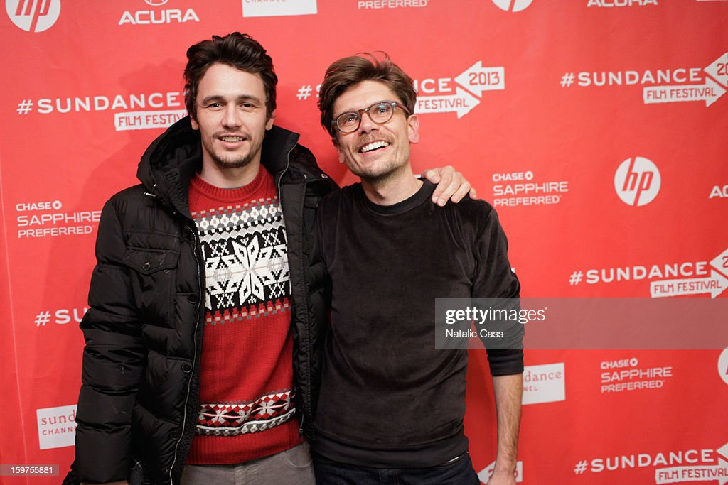 James Franco and Travis Mathews attend 'Interior. Leather Bar' premiere during the 2013 Sundance Film Festival at Prospector Square on January 19, 2013 in Park City, Utah.