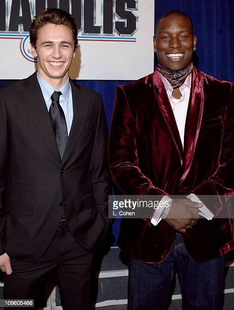 James Franco and Tyrese Gibson during Touchstone Pictures' 'Annapolis' World Premiere Red Carpet at El Capitan Theatre in Hollywood California United...