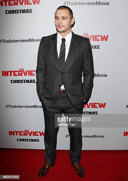 James Franco arrives at the Los Angeles premiere of 'The Interview' held at The Theatre at Ace Hotel Downtown LA on December 11 2014 in Los Angeles...