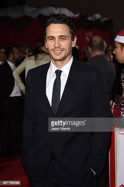James Franco arrives at the premiere for Columbia Pictures' 'The Night Before' at The Theatre at The Ace Hotel on November 18 2015 in Los Angeles...