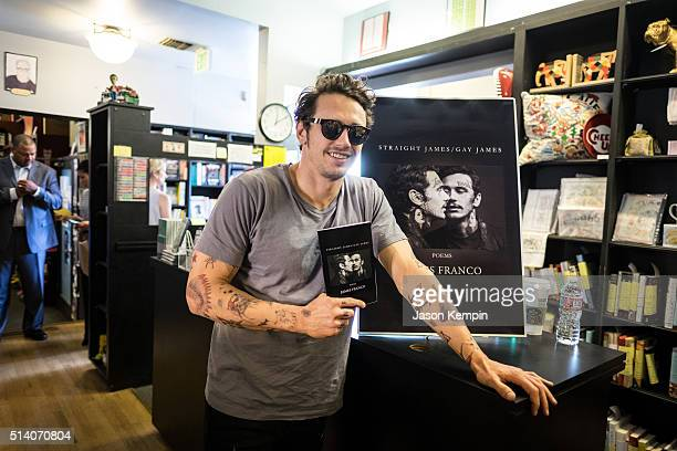 James Franco attends a signing for his new book 'Straight James/Gay James' at Book Soup on March 6 2016 in West Hollywood California