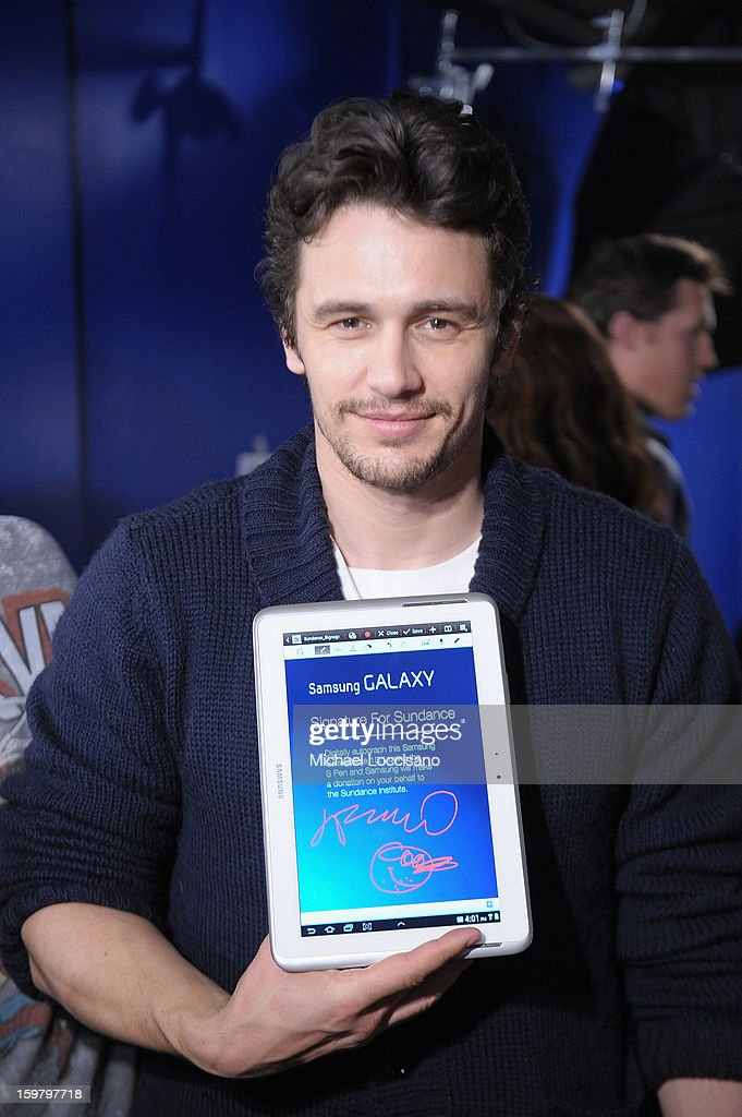 <a gi-track='captionPersonalityLinkClicked' href=/galleries/search?phrase=James+Franco&family=editorial&specificpeople=577480 ng-click='$event.stopPropagation()'>James Franco</a> attends Day 3 of Samsung Galaxy Lounge at Village At The Lift 2013 on January 20, 2013 in Park City, Utah.