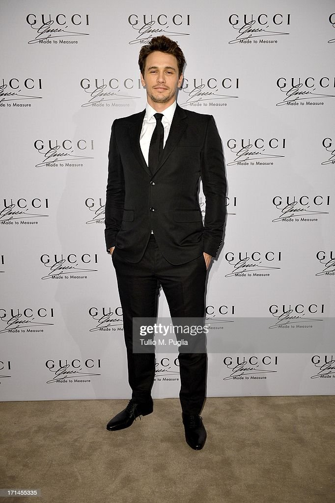 James Franco attends 'Gucci Made to Measure Launch' on June 24, 2013 in Milan, Italy.