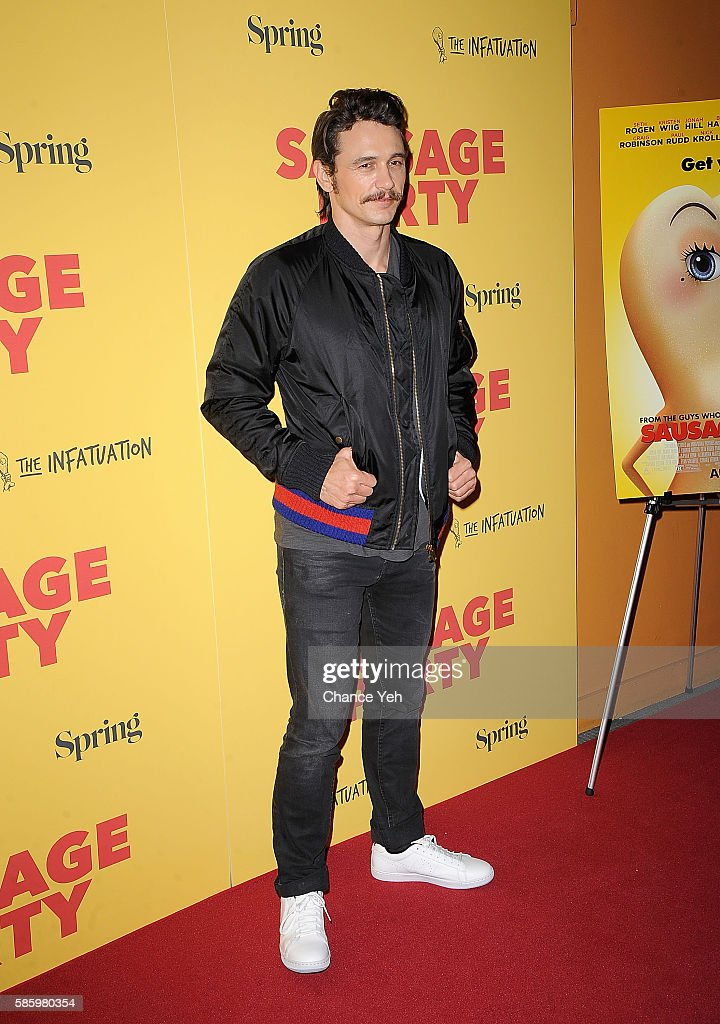 James Franco attends 'Sausage Party' New York premiere at Sunshine Landmark on August 4, 2016 in New York City.