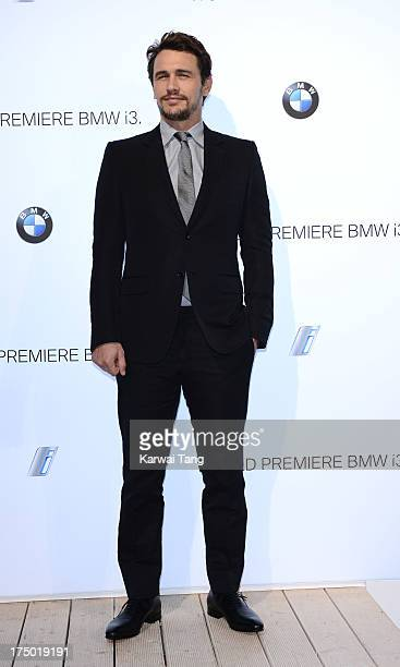 James Franco attends the BMW i3 global reveal party held at Old Billingsgate Market on July 29 2013 in London England