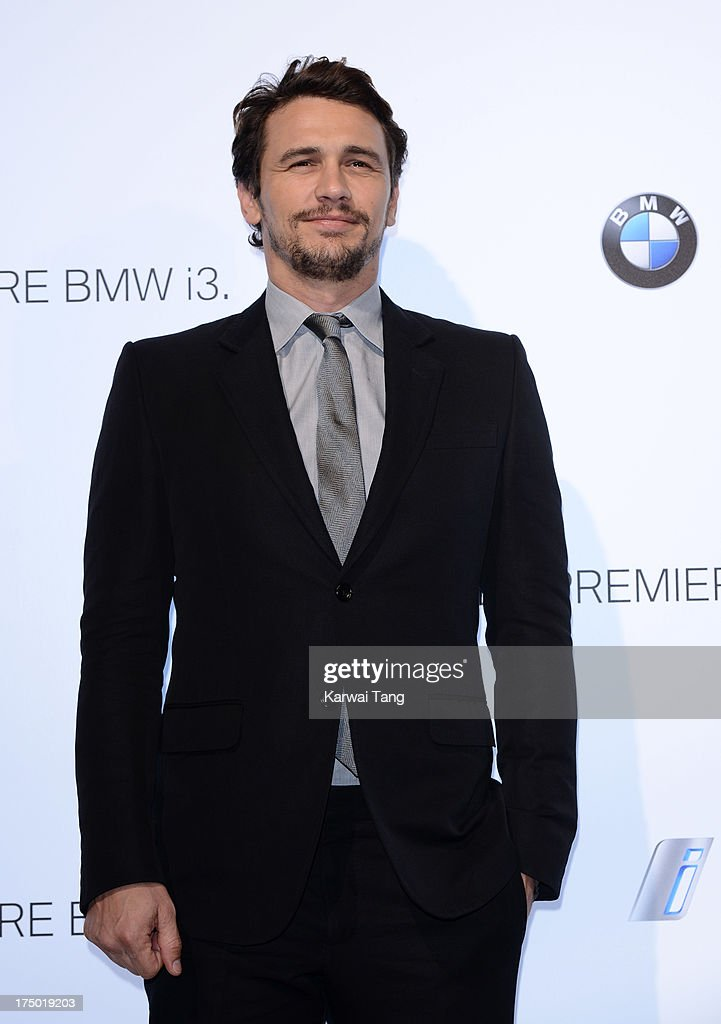 <a gi-track='captionPersonalityLinkClicked' href=/galleries/search?phrase=James+Franco&family=editorial&specificpeople=577480 ng-click='$event.stopPropagation()'>James Franco</a> attends the BMW i3 global reveal party held at Old Billingsgate Market on July 29, 2013 in London, England.