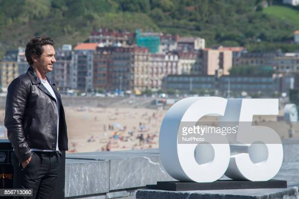 James Franco attends 'The Disaster Artist' photocall during the 65th San Sebastian International Film Festival on September 28 2017 in San Sebastian...