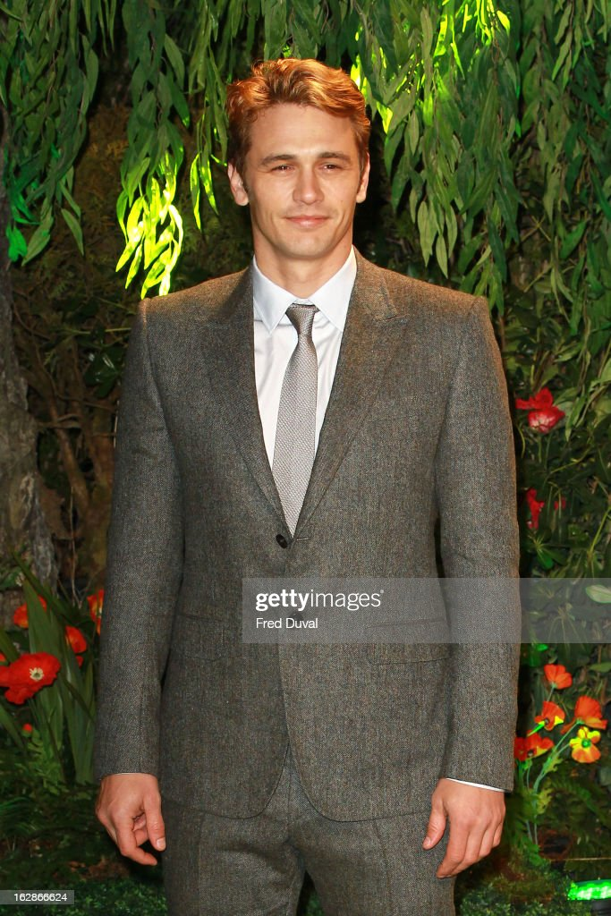 <a gi-track='captionPersonalityLinkClicked' href=/galleries/search?phrase=James+Franco&family=editorial&specificpeople=577480 ng-click='$event.stopPropagation()'>James Franco</a> attends the European Film Premiere of 'Oz: The Great And Powerful' at The Empire Cinema on February 28, 2013 in London, England.