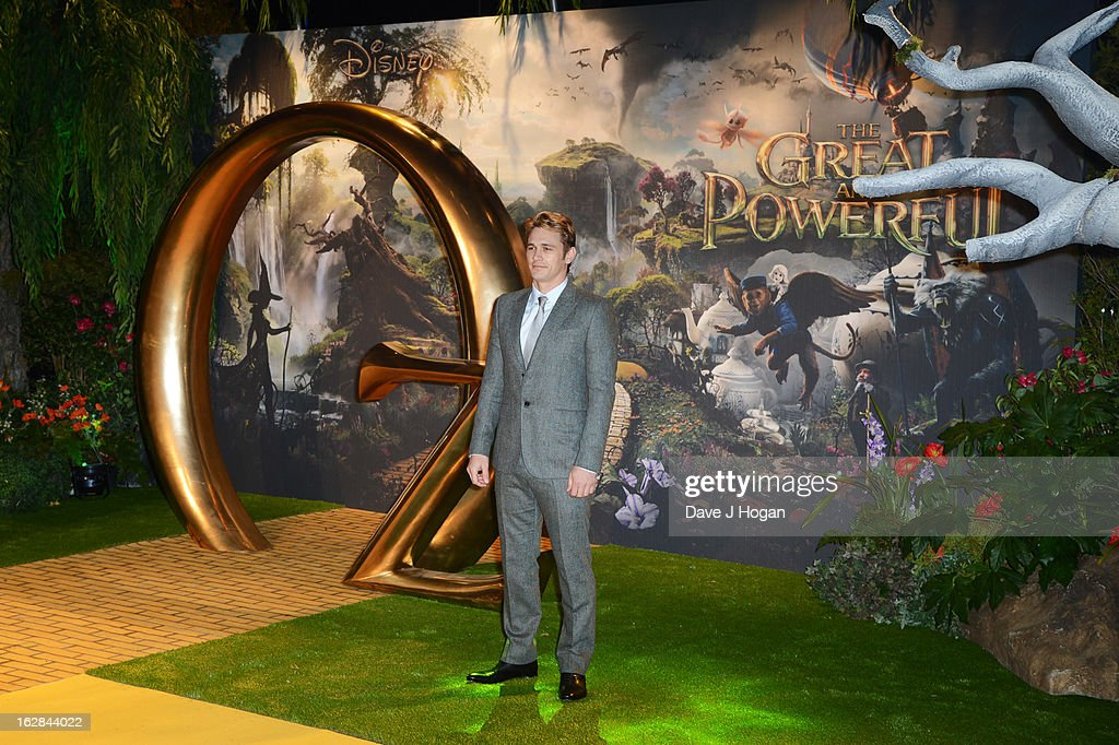 James Franco attends the European premiere of Oz: The Great And Powerful at The Empire Leicester Square on February 28, 2013 in London, England.