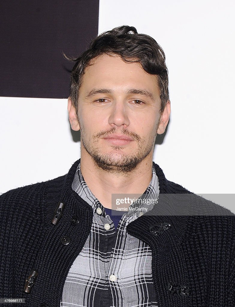 James Franco attends the 'Of Mice And Men' Press Conference at Signature Theatre, Rehearsal Studio 2 on March 6, 2014 in New York City.