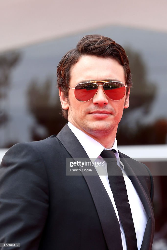 <a gi-track='captionPersonalityLinkClicked' href=/galleries/search?phrase=James+Franco&family=editorial&specificpeople=577480 ng-click='$event.stopPropagation()'>James Franco</a> attends the 'Palo Alto' Premiere during the 70th Venice International Film Festival at the Sala Grande on September 1, 2013 in Venice, Italy.