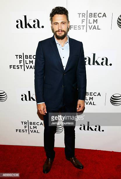James Franco attends the premiere of 'The Adderall Diaries' during the 2015 Tribeca Film Festival at BMCC Tribeca PAC on April 16 2015 in New York...
