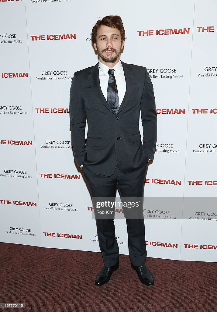 <a gi-track='captionPersonalityLinkClicked' href=/galleries/search?phrase=James+Franco&family=editorial&specificpeople=577480 ng-click='$event.stopPropagation()'>James Franco</a> attends the 'The Iceman' screening presented by Millennium Entertainment and GREY GOOSE at Chelsea Clearview Cinemas on April 29, 2013 in New York City.